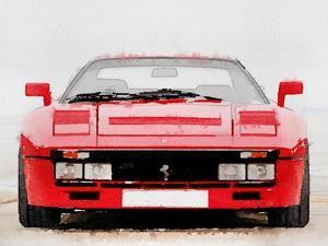 1980 Ferrari 288 GTO Front Watercolor by NaxArt