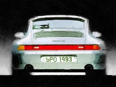 1993 Porsche 911 Rear Watercolor