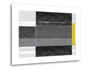 Abstract Grey and Yellow by NaxArt