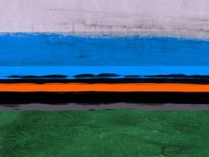 Abstract Stripe Theme Orange and Blue by NaxArt