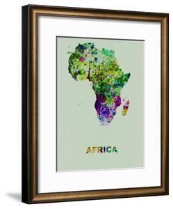 Africa Color Splatter Map by NaxArt