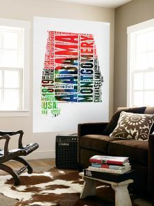 Alabama Watercolor Word Cloud by NaxArt