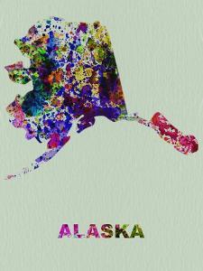 Alaska Color Splatter Map by NaxArt