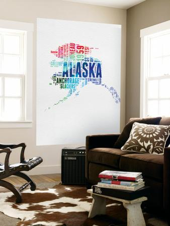 Alaska Watercolor Word Cloud by NaxArt