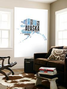 Alaska Word Cloud Map by NaxArt