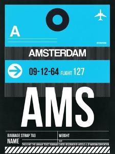 AMS Amsterdam Luggage Tag 1 by NaxArt