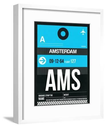 AMS Amsterdam Luggage Tag 1