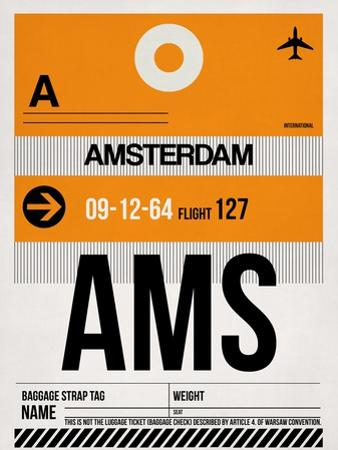 AMS Amsterdam Luggage Tag 2 by NaxArt