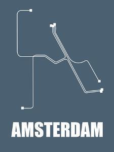 Amsterdam Subway Map I by NaxArt