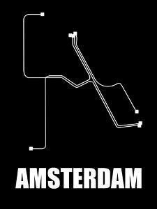 Amsterdam Subway Map III by NaxArt