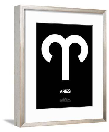 Aries Zodiac Sign White
