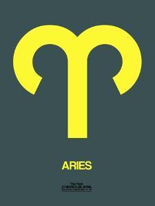Aries Zodiac Sign Yellow by NaxArt