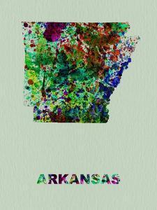 Arkansas Color Splatter Map by NaxArt