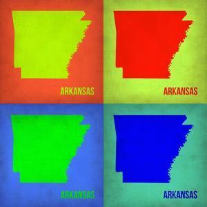 Arkansas Pop Art Map 1 by NaxArt