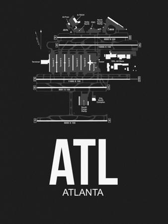 ATL Atlanta Airport Black by NaxArt