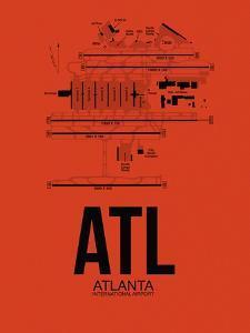 ATL Atlanta Airport Orange by NaxArt
