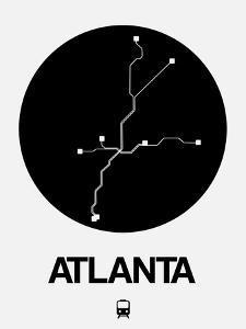Atlanta Black Subway Map by NaxArt