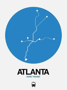 Atlanta Blue Subway Map by NaxArt