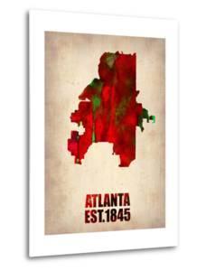 Atlanta Watercolor Map by NaxArt