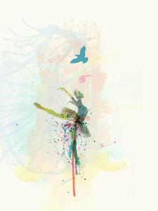 Ballerina on the Stage by NaxArt