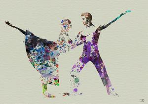 Ballet Watercolor 2 by NaxArt