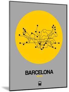 Barcelona Yellow Subway Map by NaxArt