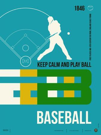 Baseball Poster by NaxArt
