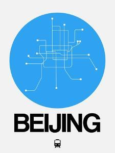 Beijing Blue Subway Map by NaxArt