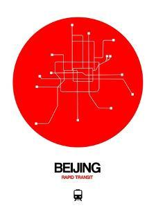 Beijing Red Subway Map by NaxArt
