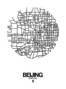 Beijing Street Map White by NaxArt