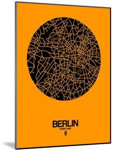 Berlin Street Map Yellow by NaxArt