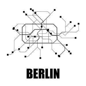 Berlin White Subway Map by NaxArt