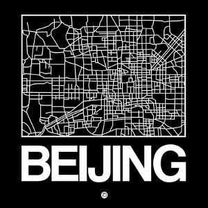 Black Map of Beijing by NaxArt