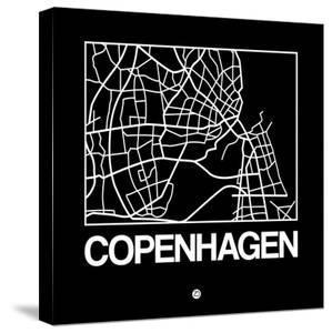 Black Map of Copenhagen by NaxArt