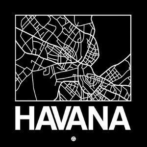 Black Map of Havana by NaxArt