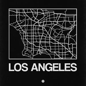 Black Map of Los Angeles by NaxArt