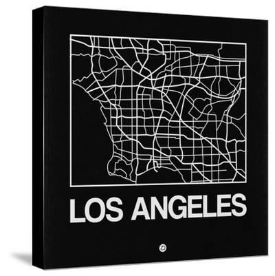 Black Map of Los Angeles