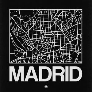 Black Map of Madrid by NaxArt