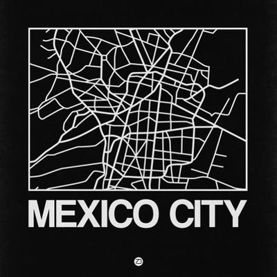 Black Map of Mexico City by NaxArt