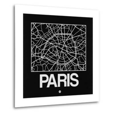 Black Map of Paris