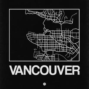 Black Map of Vancouver by NaxArt