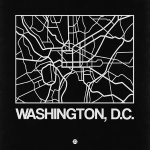 Black Map of Washington, D.C. by NaxArt