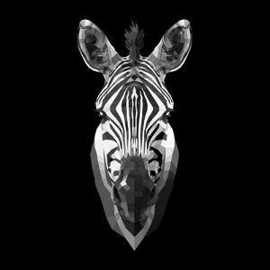 Black Zebra Head by NaxArt
