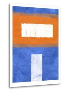 Blue and Orange Abstract Theme 2 by NaxArt