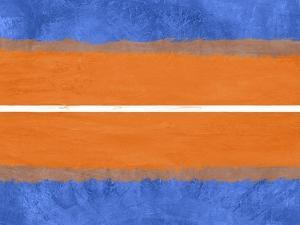 Blue and Orange Abstract Theme 4 by NaxArt