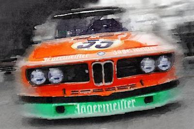BMW Front End Watercolor
