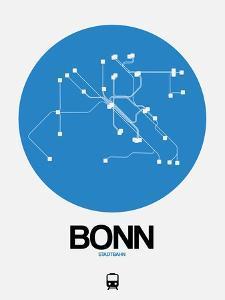 Bonn Blue Subway Map by NaxArt