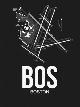 BOS Boston Airport Black by NaxArt
