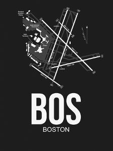 BOS Boston Airport Black by NaxArt