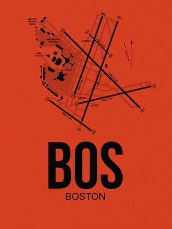 BOS Boston Airport Orange by NaxArt